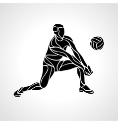 Volleyball player silhouette vector