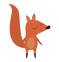 Wild chipmunk animal icon vector