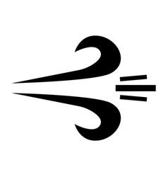 Wind the black color icon vector