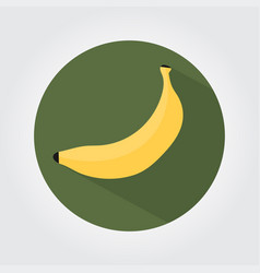 yallow banana on a white space with shadows vector image