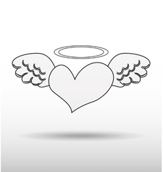 angels wings design vector image
