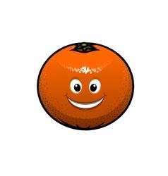 Cheerful cartoon orange fruit vector image vector image