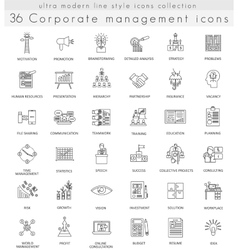 Corporate managment ultra modern outline vector image vector image
