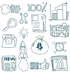Doodle of business stock collection vector image vector image