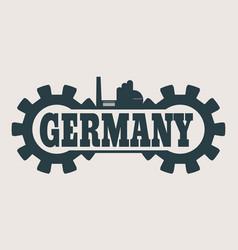 germany word build in gear vector image vector image