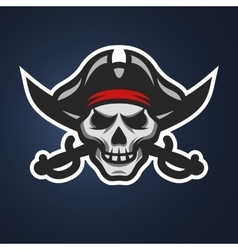 Pirate skull and crossed swords vector image vector image