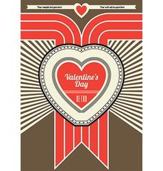Retro valentine design vector
