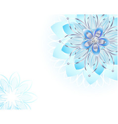abstract light blue flower vector image vector image