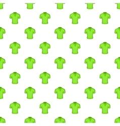 Men green polo pattern cartoon style vector image vector image