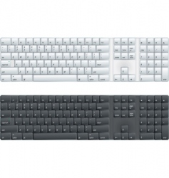 computer keyboard vector image