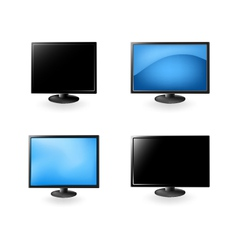 lcd tv and monitors vector image