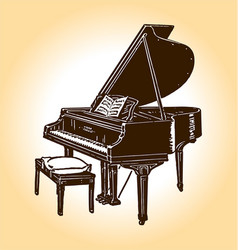 old timey piano vector image vector image