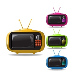 some TV sets animation vector image