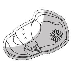 Baby shoe icon vector