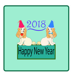 dog is a symbol of the 2018 chine new year vector image