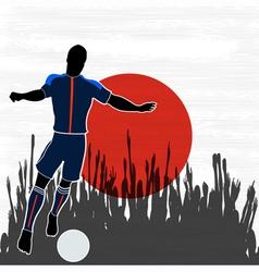 Football Japan vector image