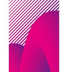 geometric stripes abstract shapes trendy cover vector image vector image