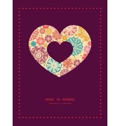 abstract decorative circles heart symbol vector image