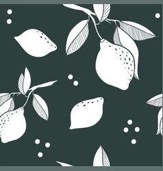 Abstract lemon seamless pattern vector