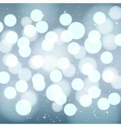Abstract silver blurred winter background vector image