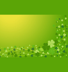 background from the leaves of the clover to st vector image