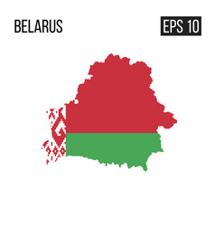 Belarus map border with flag eps10 vector