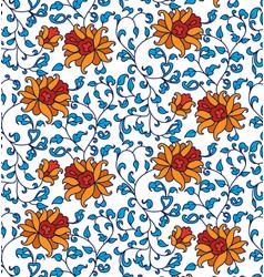 Blue-folk-seamless pattern vector