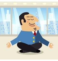 Boss meditation scene vector image