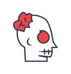 brain halloween logo icon design vector image