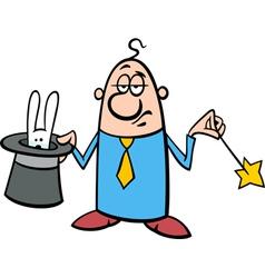 Businessman magician cartoon vector