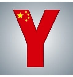 China flag in the form of letters vector image