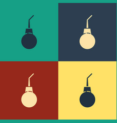 Color enema pear icon isolated on color background vector