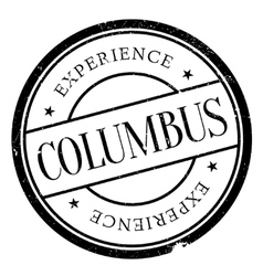 Columbus stamp rubber grunge vector