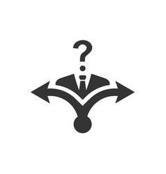 Confusion in decision making icon vector