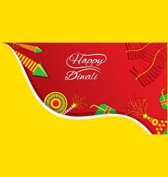 creative happy diwali festival greeting design vector image