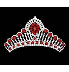 crown tiara woman vector image