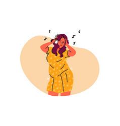 dance feminism positivity music freedom vector image