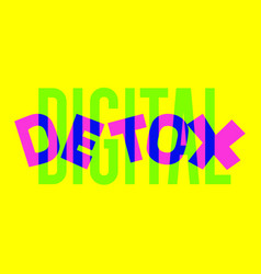 digital detox hand drawn vector image