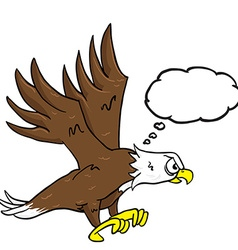 eagle with speech bubble vector image