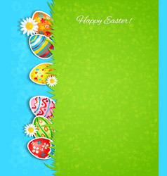 Easter background and egg in grass vector