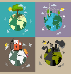 Environmental protection backgrounds vector