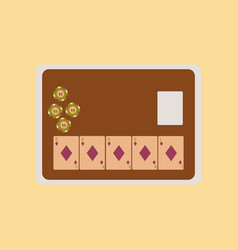 flat icon on stylish background board card chip vector image vector image