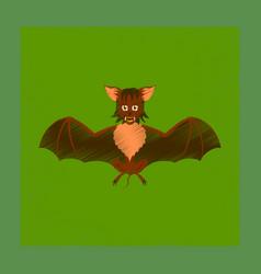 Flat shading style icon cute bat vector