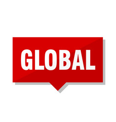 global red tag vector image