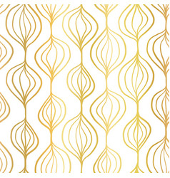 gold foil abstract organic ornamental vertical vector image