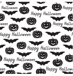 halloween seamless pattern holiday background vector image