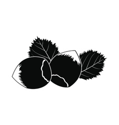 Hazelnut icon black vector image