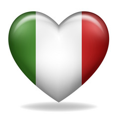 heart shape italy insignia isolated on white vector image