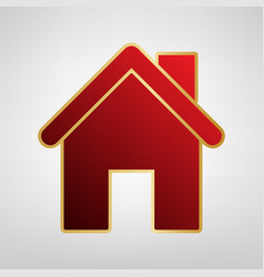 home silhouette red icon on vector image