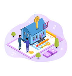 house loan rent and mortgage concept vector image